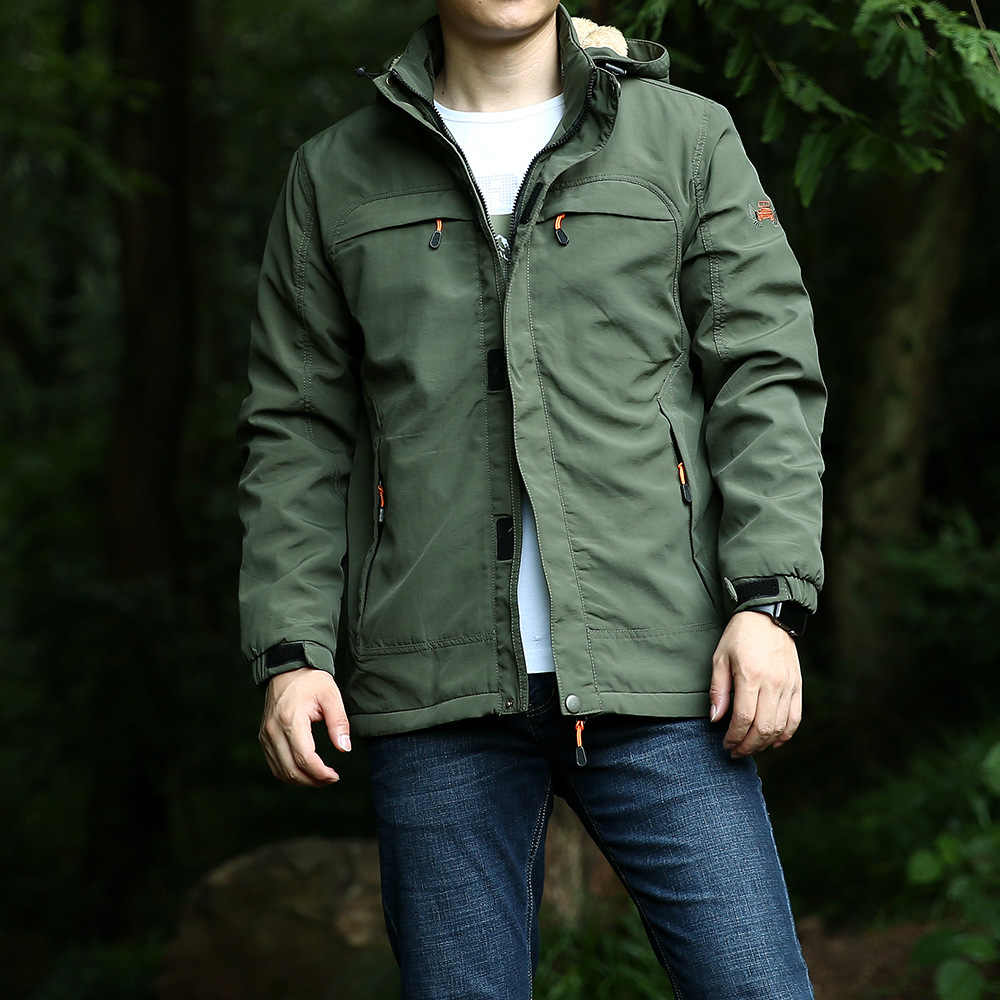 Зимняя мужская куртка в стиле милитари, повседневное пальто с капюшоном и воротником, мужские флисовые толстые теплые мужские куртки и пальто, большие размеры M-4XL