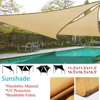 Waterproof Sun Shelter UV Sunshade Protection Outdoor Canopy Garden Patio Pool Shade Sail Awning Camping Shade Cloth Large