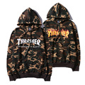 2017 Early Spring Camo Thrasher Hoodies Men Camouflage Trasher Hoodie Palace Skateboard Tracksuit Camo Thrasher Hoodie Free EUB