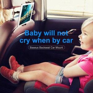 Image 5 - Baseus Car Back Seat Headrest Mount Holder For iPhone X Samsung iPad 360 Degree Bracket Car Backseat Tablet Mobile Phone Holder