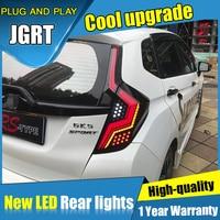 Dynamic turn signal car Styling for Honda Fit LED Taillights 2014 2019 for Fit GK5 Tail Lamp Fog Light DRL+Brake+Park lights