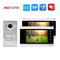 Free Shipping 2 Apartment House 720P AHD 7 Record Screen Video Intercom Door Phone Motion Detection