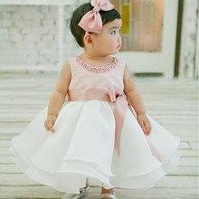 Été Bébé Fille 1 Année D'anniversaire Dress 0-2A Infant Toddler Bébé Fille Baptême Baptême Mariage Fête D'anniversaire Princesse Dress