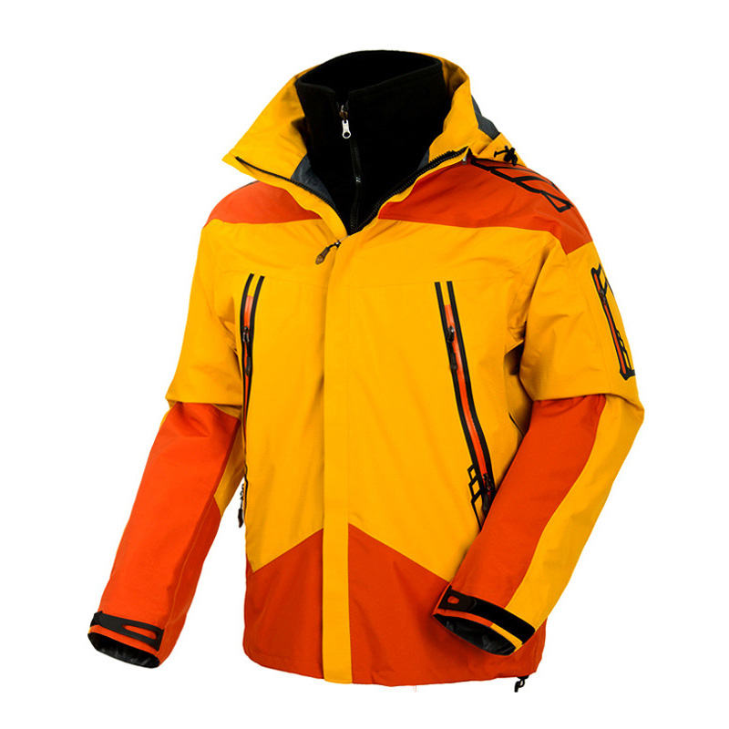 ФОТО Men Spring Winter Outdoor Tech Fleece Softshell Two- Pieces Jacket Waterproof Windproof Anti-UV Fishing Ski Hiking Coats,UA101
