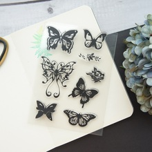 flying butterfly Design Clear Transparent Stamp Silicone Stamps As Scrapbooking Decoration DIY Card Paper Gift Use
