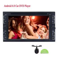 6.2 ''в тире dvd ресивер Hands Free Bluetooth 2 DIN wifi видео плеер Android 6.0 ddr 2 г Оперативная память стерео Системы + заднего Камера