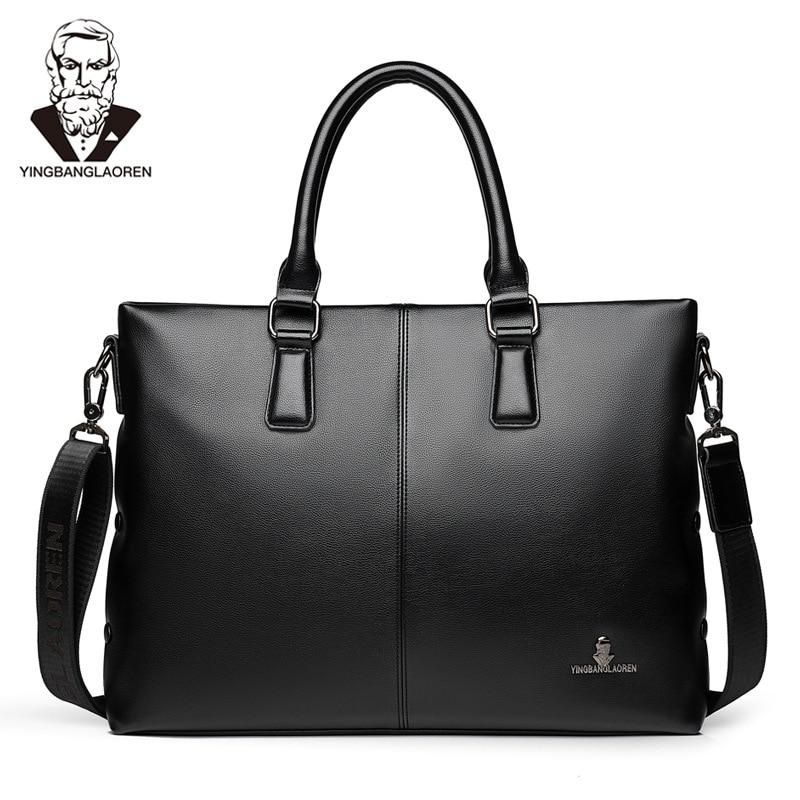 New Design Men' s PU Leather Business Briefcase Casual Shoulder Bag Messenger Bag Computer Laptop Handbag Travel Bag