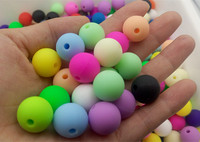 15mm Silicone Beads baby teething beads Round baby teething DIY Jewelry Beads BPA free food grade silicone 100pcs/lot