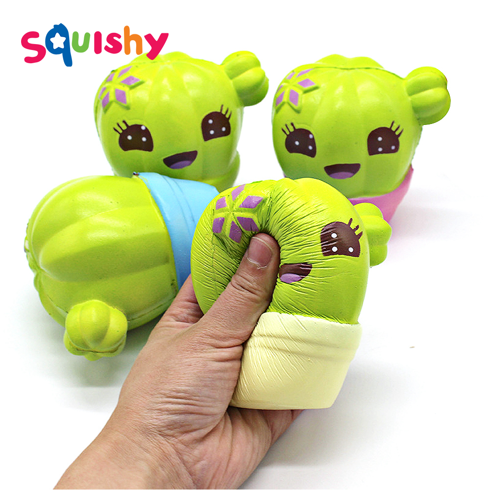 Antistress Squishy Cactus Squishe Toys For Children Stress Relief Novelty Gag Toy Fun Anti-stress Colourful Gags Practical Jokes