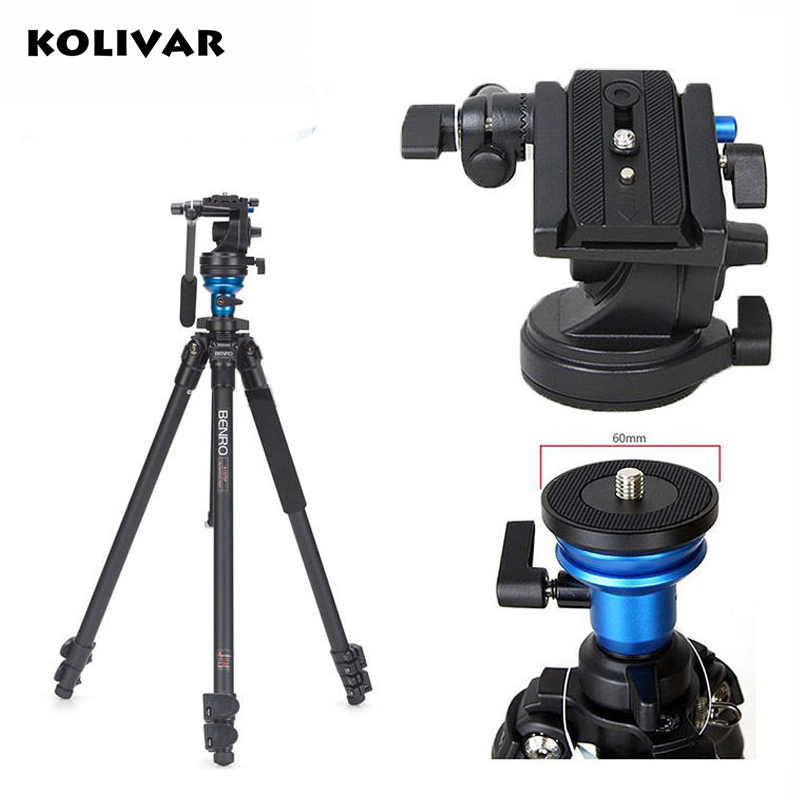KOLIVAR BENRO A1573FS2 Professional Video Camera Tripod S2 Photo/Video Head Aluminum Tripod for Photography/DSLR Camera Stand benro s2 video head pan and tilt head for dslr video camera