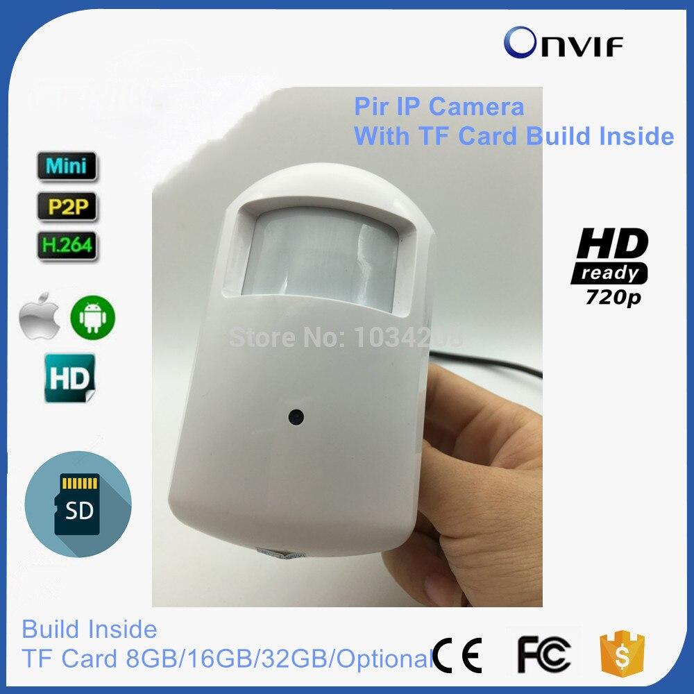 720 P HD Крытый Pir Камера детектор движения PIR Стиль безопасности мини IP Камера слот для карты SD 8 ГБ/ 16 ГБ/32 ГБ аудио дополнительно