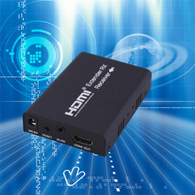 New Arrival HDV-E100 DC 5V~12V120M HDMI Extender 1080p 3D HDMI Transmitter Receiver CAT 5E/6 With IR and TCP/IP US Plug