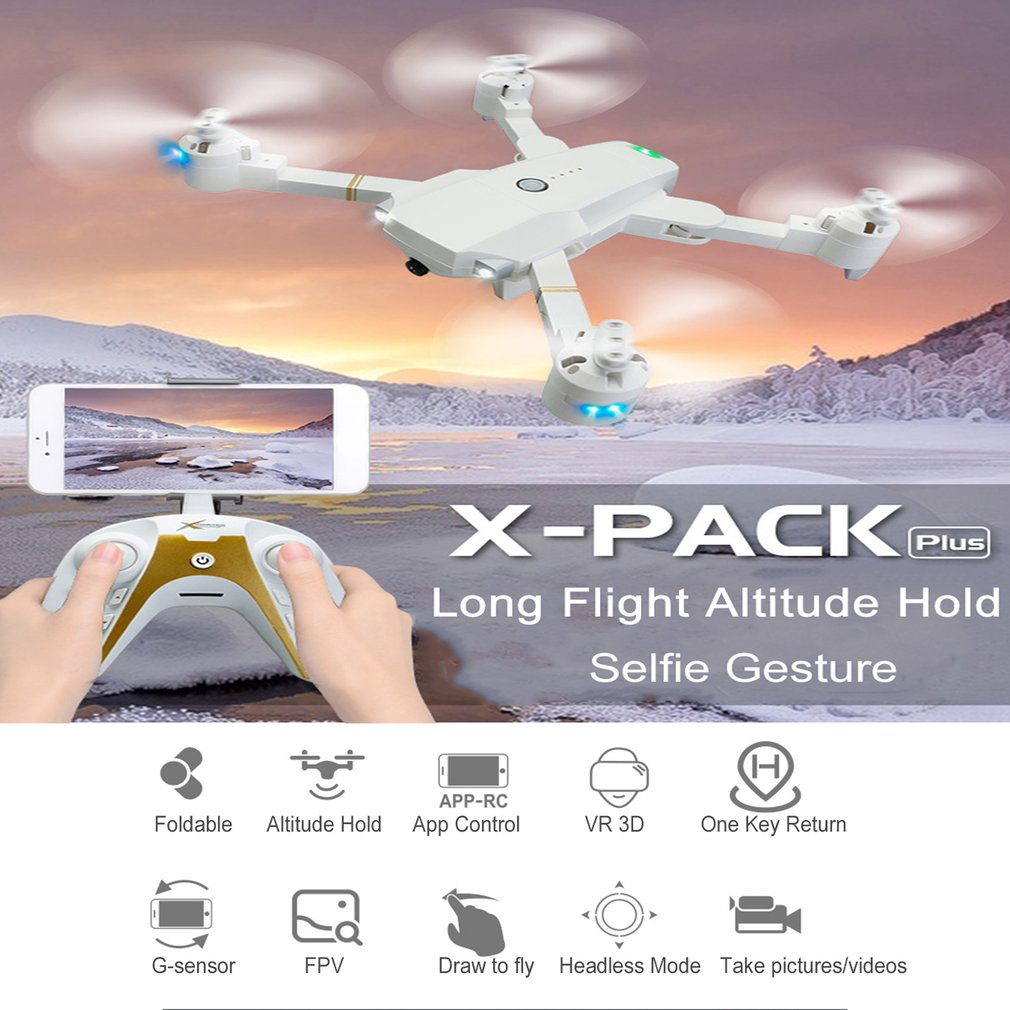 Attop XT1 PLUS 2.4G FPV Foldable RC Quadcopter Drone with 720P/1080P Wide Angle Camera Gesture Selfie Long Flight Altitude HoldAttop XT1 PLUS 2.4G FPV Foldable RC Quadcopter Drone with 720P/1080P Wide Angle Camera Gesture Selfie Long Flight Altitude Hold