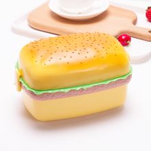 700ML Creative Hamburger Shape Lunch Boxs Tableware Food Container Bento PP Lunchbox For Children Friend