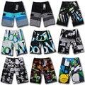 Alta Qualidade Shorts Mens Board Shorts bermuda masculina Verão Calças Grandes e Altos Short Beach wear Quick Dry Prata