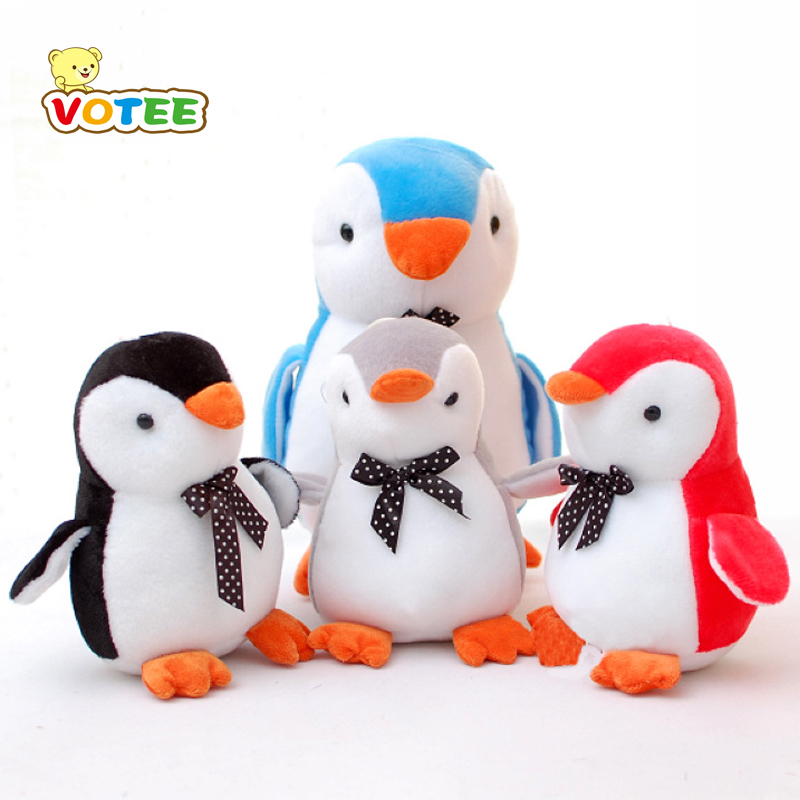 1pc 20cm Lovely Penguin with Bow-tie Plush Toys Staffed Cute Animal Plush Dolls Kids Toy Creative Birthday Gift VOTEE