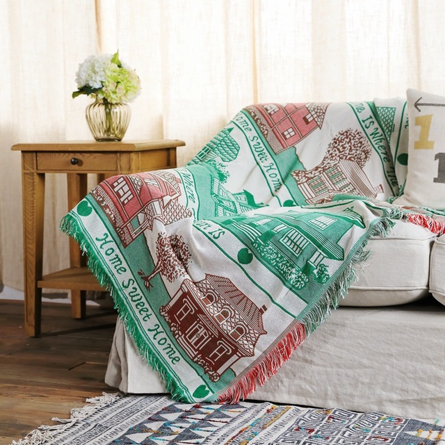 Excellent Us 31 59 49 Off Dropship House Sofa Throw Blanket Knitted Chair Sofa Cover Towel Couch Carpet Soft Cotton Travel Plaids Cover Bedding Tapestry In Gmtry Best Dining Table And Chair Ideas Images Gmtryco