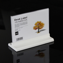(2 units/pack) Desk Horizontally Standing Tabletop Double Sided Acrylic Menu & Leaflet Holders ADS020