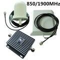 Gsm CDMA 850 / 1900 MHz 3 G UMTS Signal Booster amplificador para o telefone móvel interior + exterior antena repetidora