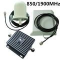 Gsm CDMA 850 / 1900 MHz 3 G UMTS amplificador de señal amplificador para el teléfono móvil de interior + antena exterior repetidor