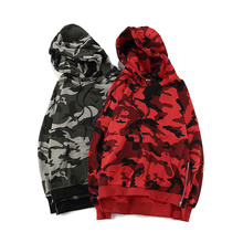 Top Qualität Rote Tarnung Hoodies Männer Frauen Mode Reißverschluss Camo Hoodie Hip Hop High Street Sweatshirts Paare Kleidung