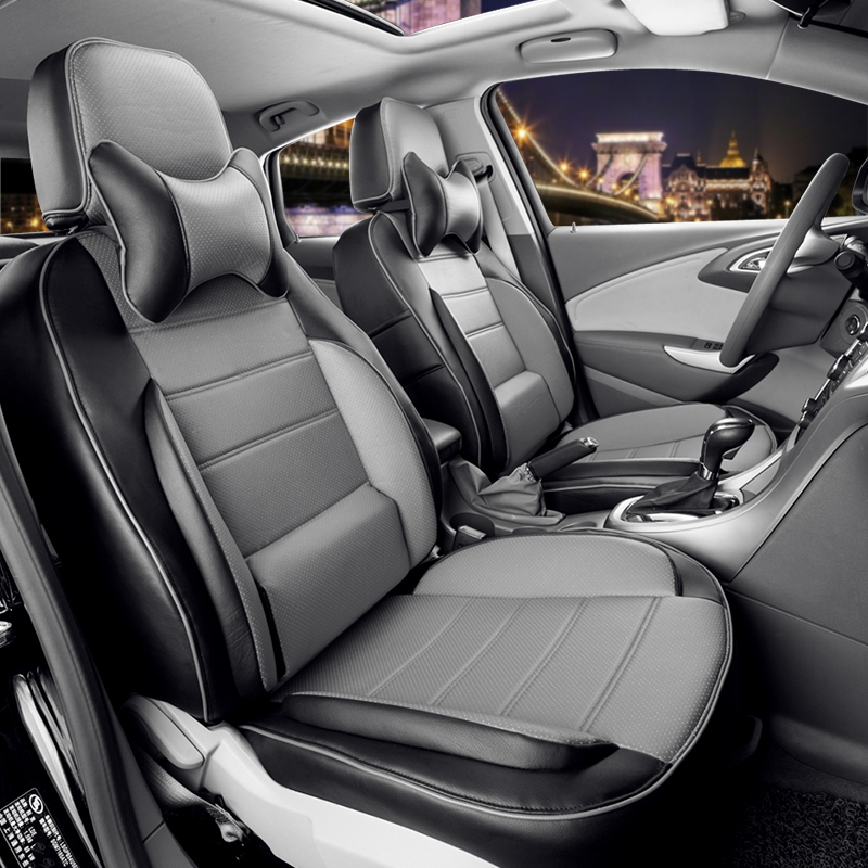 CARTAILOR Cover Seats For Land Rover Freelander 2 Car Seat Covers Set Black PU Leather Cars Protector Accessories In Automobiles