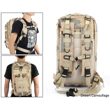 Rectangular Backpack with Camouflage Pattern