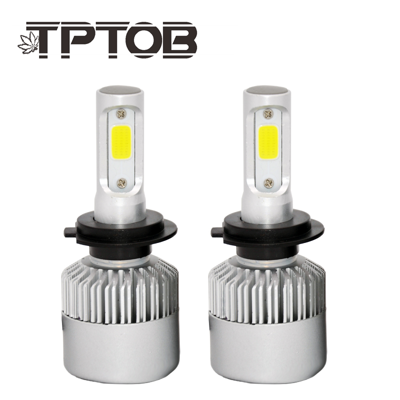 купить TPTOB H4 H7 H11 H1 H3 9005 9006 COB Car LED Headlight Bulbs Hi-Lo Beam 72W 8000LM 6500K Auto Headlamp Fog Light Bulb DC12v 24v по цене 605.86 рублей