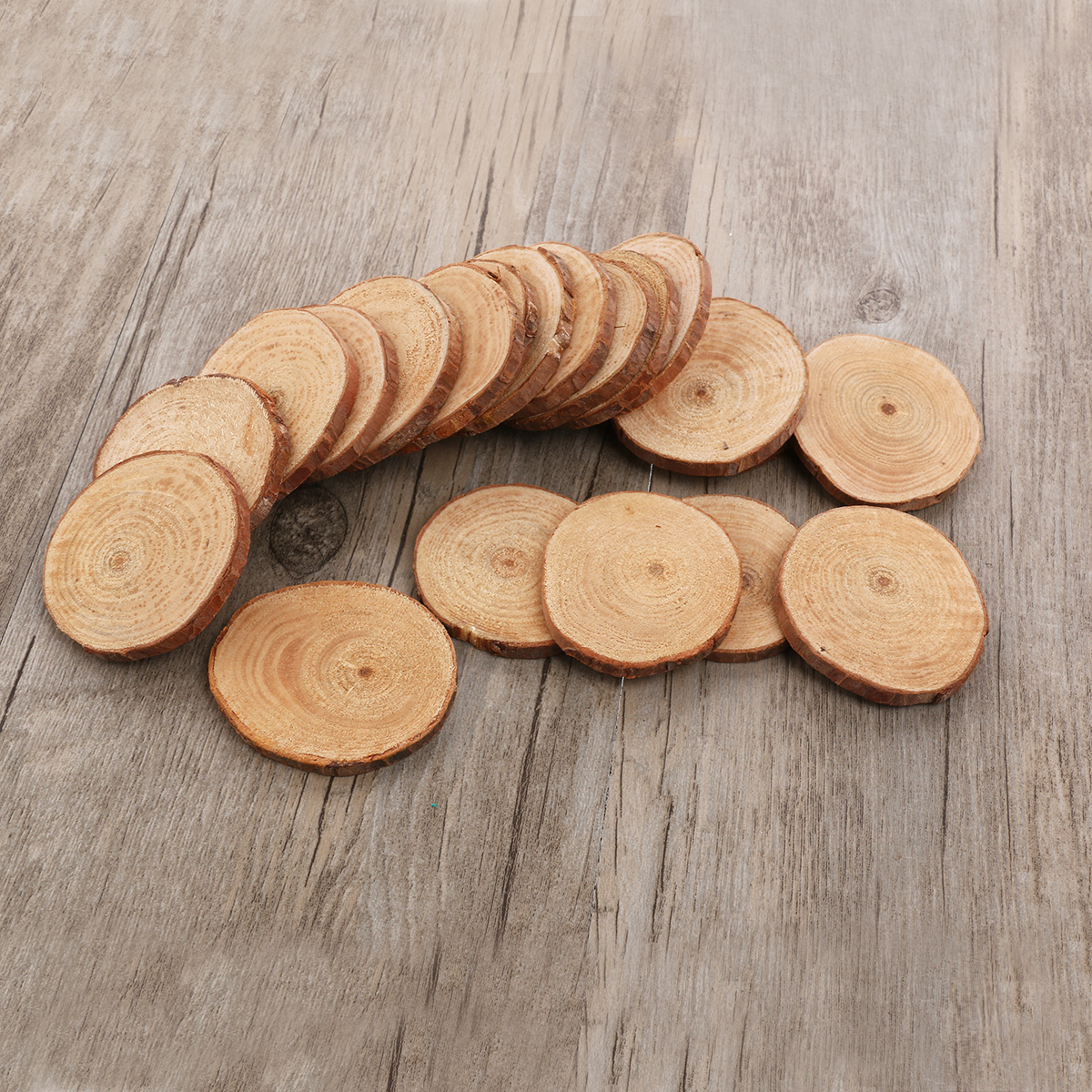 Wooden circles for crafts - 20pcs 5 6cm Wood Log Slices Discs Cutout Circle Round Large Wood Disks Crafts Paint