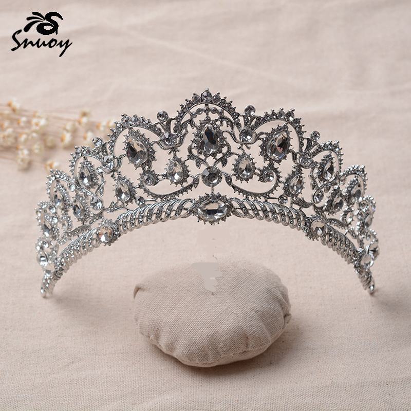 Snuoy Hair Ornaments Wedding Bridal Crown and Tiara Jewelry Accessories for Pageant Prom Queen Crown Diadem coroa de noiva