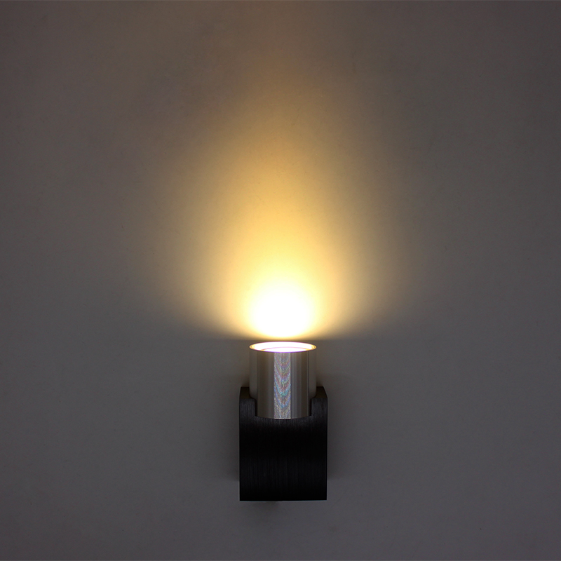 3W LED Wall Sconce AC85-265V Modern Aluminum Luminous Lighting Fixtures Frosted Lampshad ...