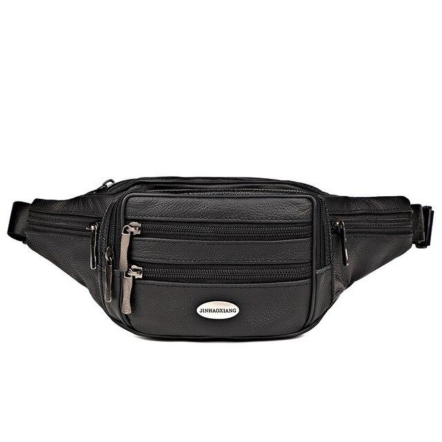 ca16d174b 2018 Pu Leather Waist Packs Fanny Pack Belt Bag Phone Pouch Bags Travel  Waist Pack Male Small Waist Bag High-quality Pouch