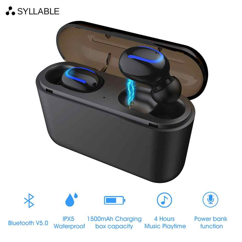 b4569f76dfd SYLLABLE HBQ-Q32 TWS Wireless Earbuds V5.0 Bluetooth Earphones sports  Headset SYLLABLE HBQ