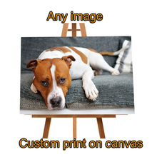 Photo Custom Painting on Canvas Wall Art Prints Giclee Angels Thomas Kinkade Print Anime Dog