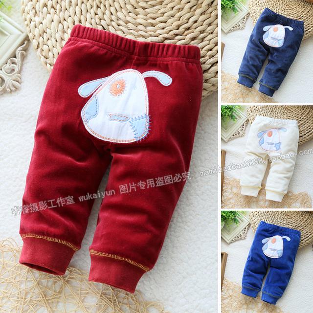Nuevo 2014 del otoño del resorte niños pantalones ropa de bebé de un solo nivel infantil pantalones del bebé animal lindo niñas pantalones casuales