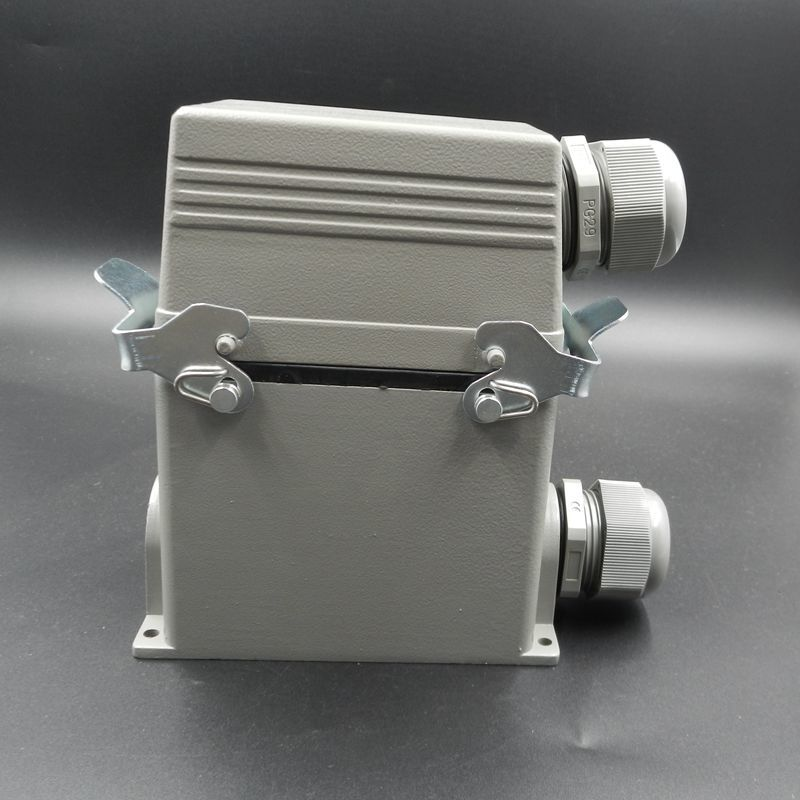 Heavy Load Connector HDC-HE-048-3 Surface Mounted Heat Flux Avenue Plug Socket 48 Core 16A Connect Plug-in Unit heavy duty connectors hdc he 024 1 f m 24pin industrial rectangular aviation connector plug 16a 500v