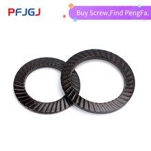 Peng Fa DIN9250 blackened double-sided toothed washer 65Mn steel anti-loosening lock anti-skid gasket self-locking M4-42