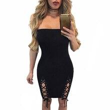 Strapless Lace Up Bodycon Plus Size Tranny Dress