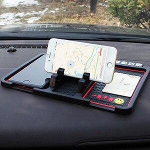 Image 4 - Tapis anti dérapant voiture Smartphone Stand Gadgets de voiture et accessoires Pad collant pour Smart 453 anti dérapant multi fonction carte de stationnement