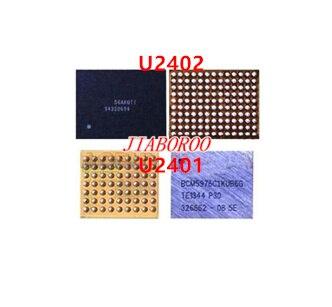 10pair ot Touch screen Control IC black U2402 crystal U2401 For iphone 6 6plus