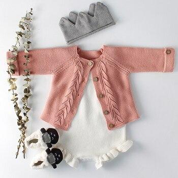 одежда для маленьких девочек осенний детский вязаный комбинезон
