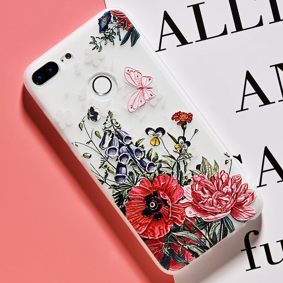 3D Relief Flower TPU Case For On Honor 9 9 lite Soft Silicone Case Back Cover Case for Huawei P20 P10 lite NOVA 2 Case           (21)