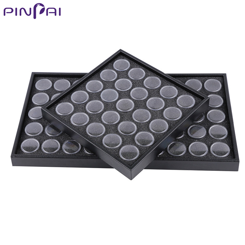 PinPai 25/50 Grids Acrylic Bottle Whole Box for Nail Art Ornaments Storage & Display Manicure Jewel Accessories Container Bottle gloss black chin fairing front spoiler for harley davidson sportster 883 xl 1200 2004 2014