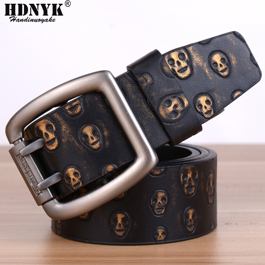 New Famous Designer Luxury Skull Pattern Beltss