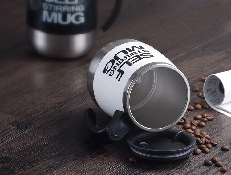 Stainless Steel Self Stirring Mixing Mug Protein Shaker Multifunction Smart Mixer Blender Cup Automatic Electric Coffee Mugs (6)