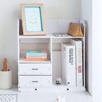 Drawer Storage Box Bathroom Cosmetics Wood Plastic Board Storage Rack Office Desktop Multi Layer Grocery Shelf Makeup Organizer