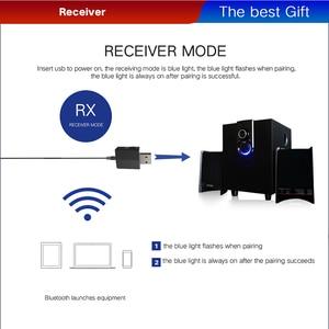 Image 4 - VAORLO Bluetooth 5.0 オーディオレシーバートランスミッター 3 で 1 ステレオ 3.5 ミリメートルの Usb Bluetooth ワイヤレスアダプタテレビ PC 用車キットヘッドフォン