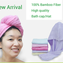 1PCS High quality 100% Bamboo fiber Strong Water Absorption Hair Dry Shower