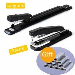 Длинный/поворотный рычаг степлер металла специальный A3/A4 швейная машина штапель удлинение степлер сшивание бумаги скобами офисный степлер...