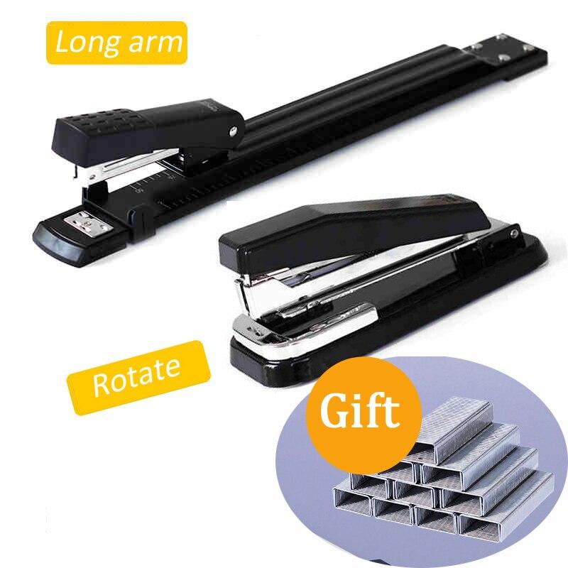 Longa/girar braço grampeador metal especial a3/a4 máquina de costura grampo alongamento grampeador de papel grampeador escritório grampeador encadernação